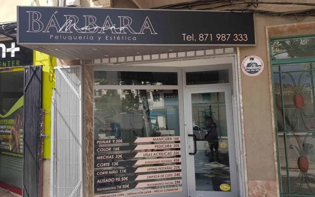 Barber and Aesthetics Label Barbara