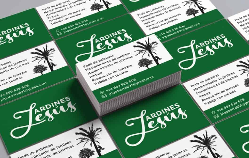 Jardines Jesús business cards