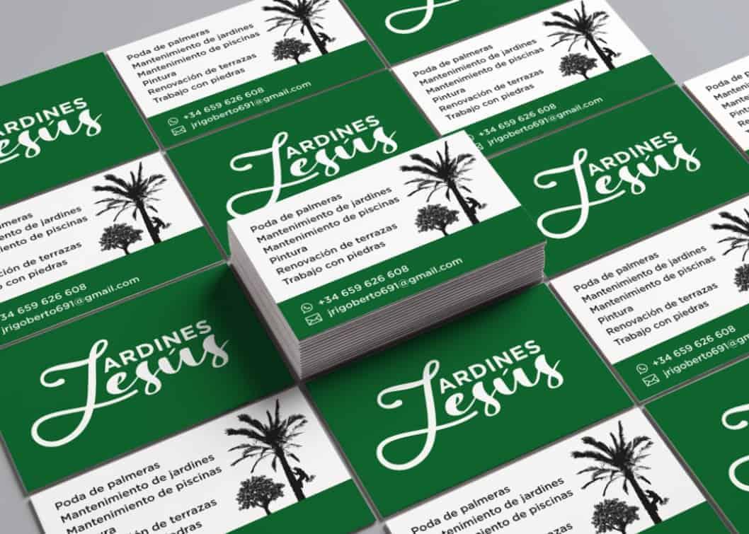 Tarjetas de visita Jardines Jesús